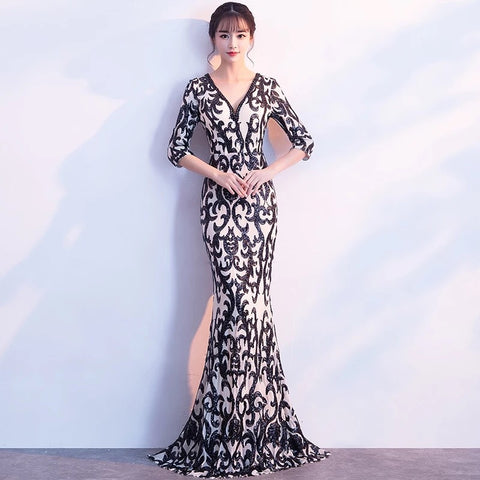 Gaia Patterned Gown - Gowns.sg