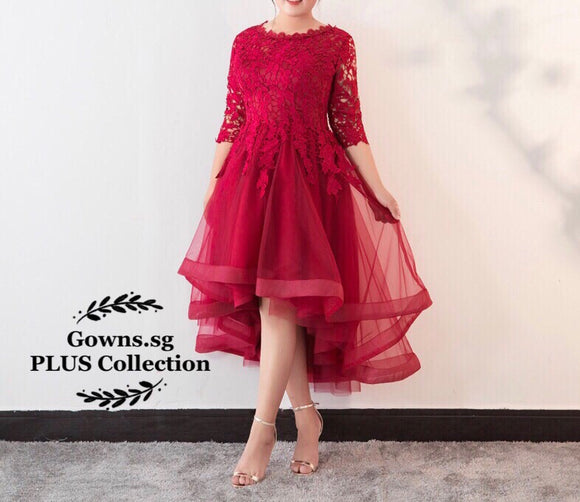 Fiery Red Plus Dress (XXL-6XL) - Gowns.sg
