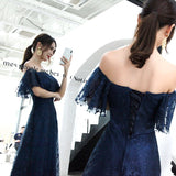"""Stars On Me"" Off Shoulder Gown - Gowns.sg"