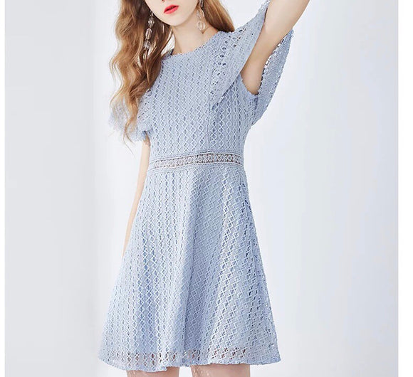Special Shoulder Lace Dress (S/M/L)