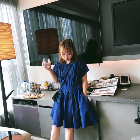 Gina Loose Fit Dress in Blue - Gowns.sg