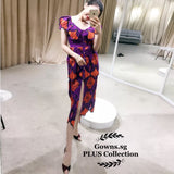 Patterned Floral Plus Dress (L Onwards)