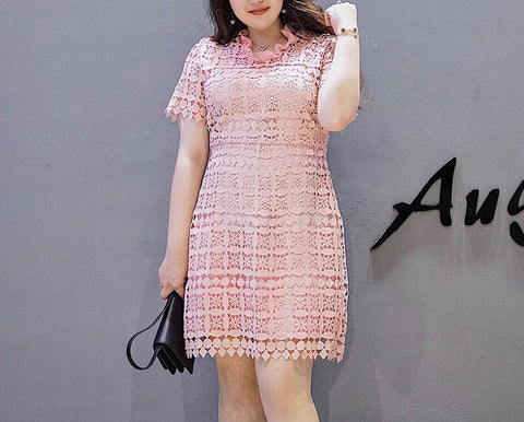 Valli Floral Lace Dress (L-5XL) - Gowns.sg