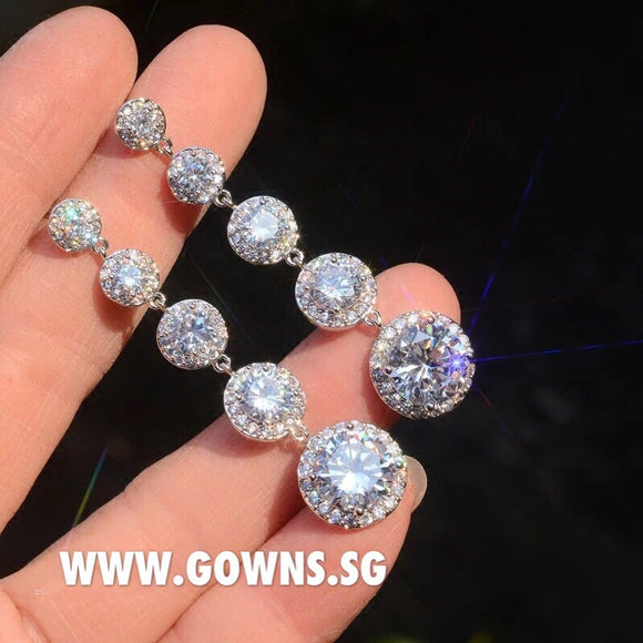 Long Earrings OFF448 - Gowns.sg