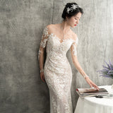 Lambeth Illusion Sleeve Gown - Gowns.sg