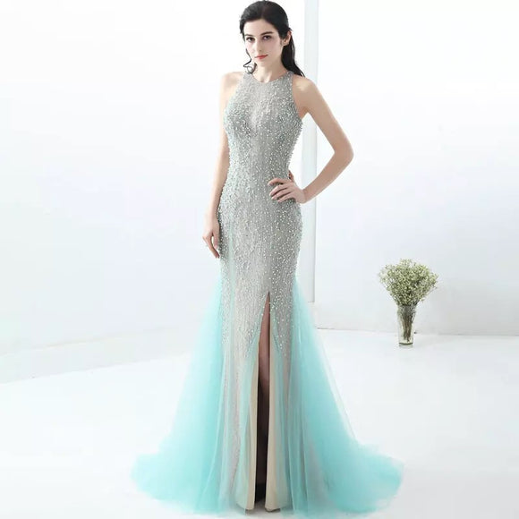 Perfect Ariel Beaded Gown - Gowns.sg