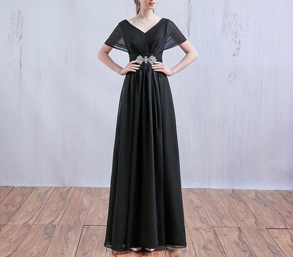 Statement Belt Maxi Gown (L-5XL)