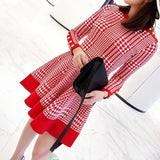 Houndstooth Plus Dress (L-XXL) - Gowns.sg