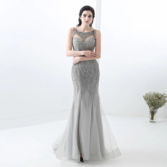 Tamelea Beaded Gown - Gowns.sg