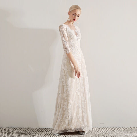 WILMA Lace Dress - Gowns.sg