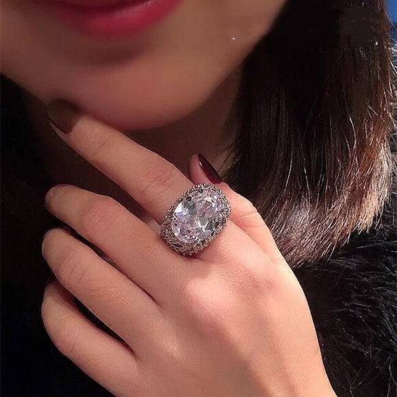 Statement Diamond Ring OFF918 - Gowns.sg