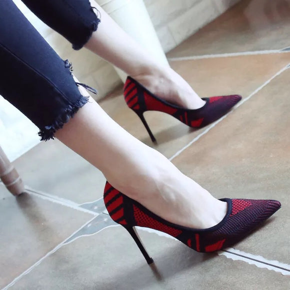 Comfy Red and Black Heels (2 Designs) - Gowns.sg