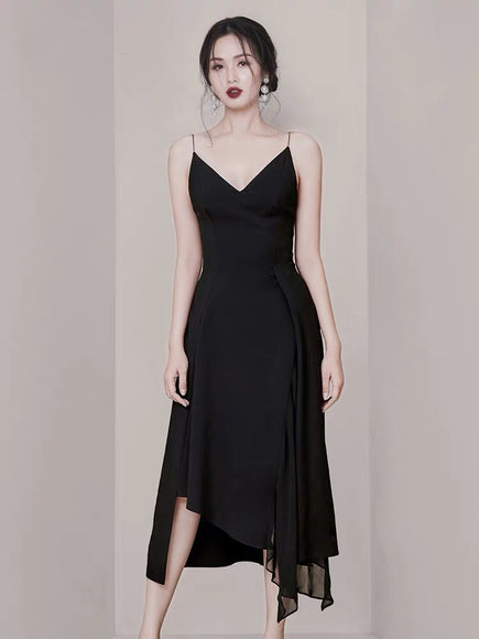 CHANELLE Strap Midi Dress - Gowns.sg