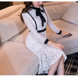 Lace Cocktail Dress (S-4XL) - Gowns.sg