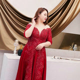 Illusion Plunging Fire Gown (3XL upwards) - Gowns.sg