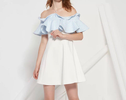 Mirad Ruffle Trim Dress (S/M/L) - Gowns.sg
