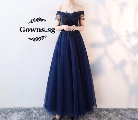 Helma Beaded Gown - Gowns.sg