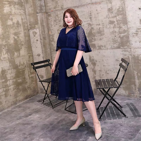 Midnight Flare Sleeve Plus Gown (XL Upwards) - Gowns.sg