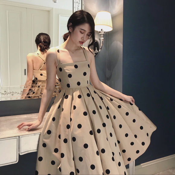 LAURAE Polka Dot Dress - Gowns.sg