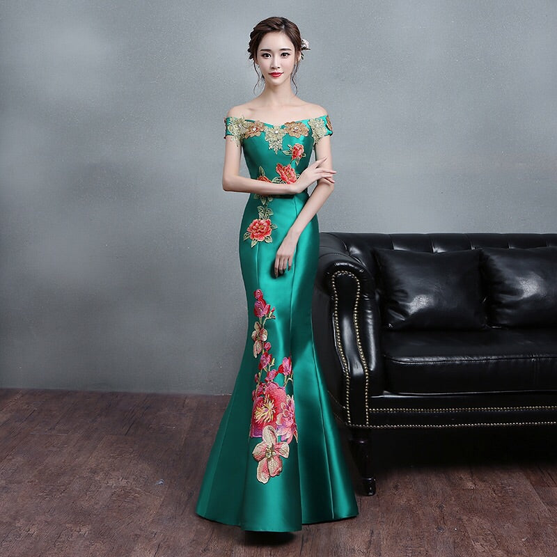 785213d3261 Graciously Emerald Evening Gown – Gowns.sg