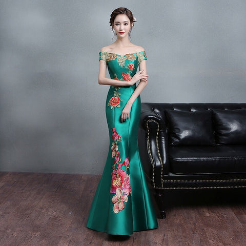 Graciously Emerald Evening Gown - Gowns.sg