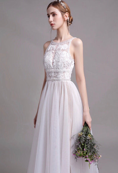 LUCIANE Beaded Mesh Gown - Gowns.sg