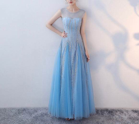 Jessmine Illusion Gown in Marine - Gowns.sg