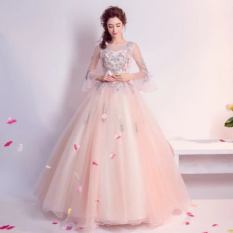<EG052>Fancy Flowers Evening Gown - Gowns.sg