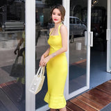 Lime Bandage Dress - Gowns.sg