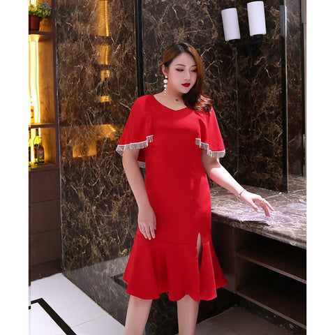 Queen Cape Dress (L-4XL) - Gowns.sg