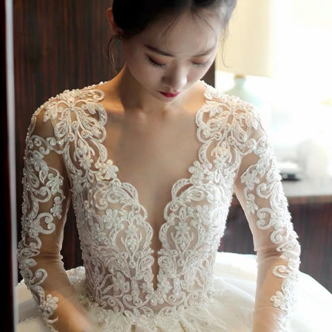 Soleil Lace Sleeve Gown - Gowns.sg