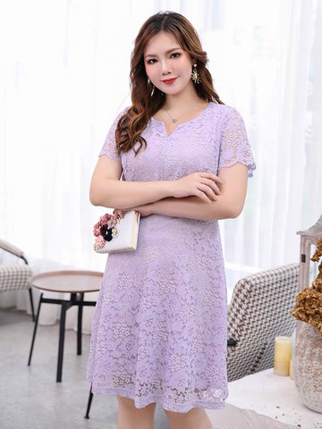 JANE Lace Plus Dress - Gowns.sg