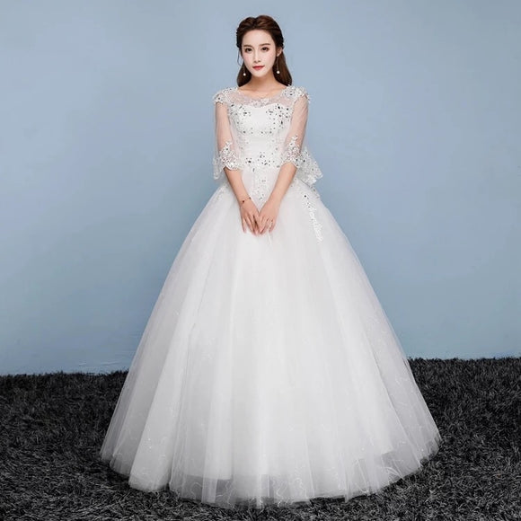 Angelic Plus Wedding Gown (XXL-5XL) - Gowns.sg