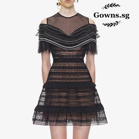 Ferrett Lace Dress - Gowns.sg