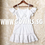 Yille Lace Dress (S/M/L) - Gowns.sg