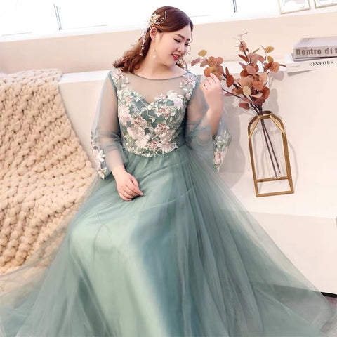 Garden Goddess Plus Gown (3XL upwards) - Gowns.sg