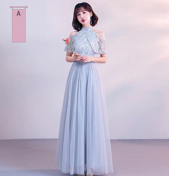 Sorority Sisters Maxi in Grey (Super Plus Available) - Gowns.sg