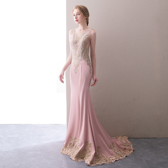 Gloriesse Beaded Lace Gown - Gowns.sg