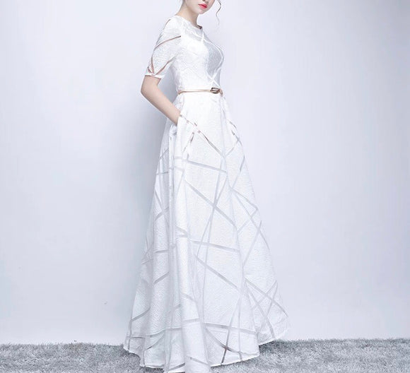 Briselle White Gown - Gowns.sg