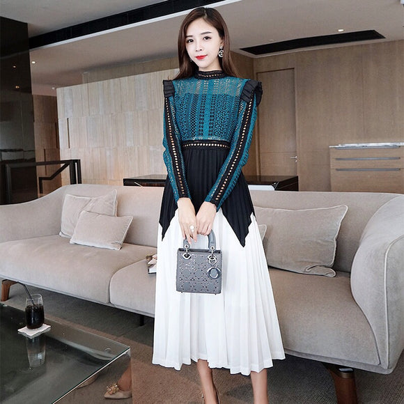 Like Self Portrait Lace Dress - Gowns.sg