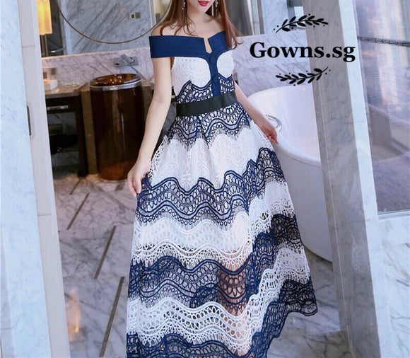 Oceanic Mini Gown - Gowns.sg