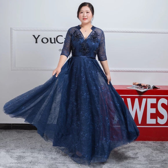 Sweet Tulle Plus Evening Gown (XXL-6XL)