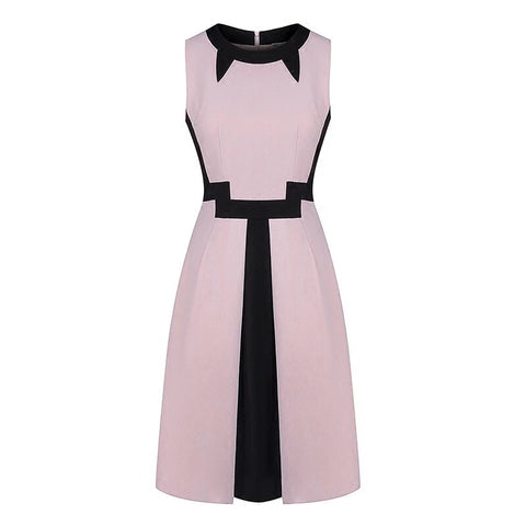 Izumi Colorblock Dress (S,M,L) - Gowns.sg