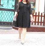 Telicia Plus Dress in Black (XXL-8XL) - Gowns.sg