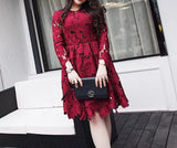 Dramatic Floral Lace Dress (L-5XL) - Gowns.sg