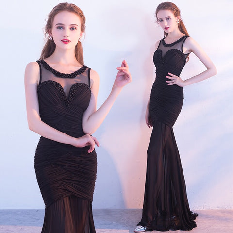 Evelyn Chic Black Gown - Gowns.sg