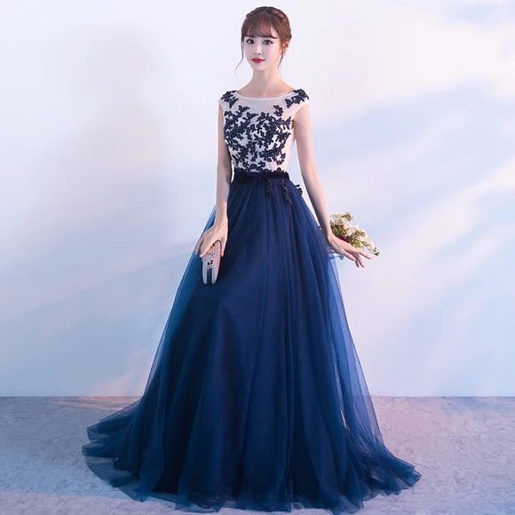 Blue sparkles maxi gown - Gowns.sg