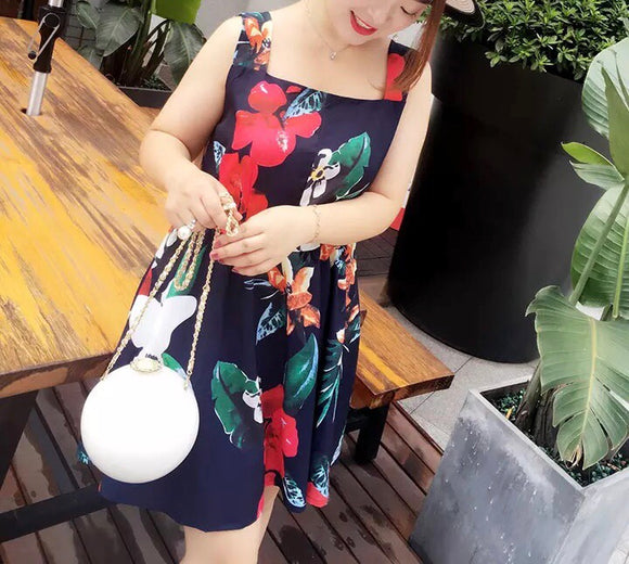 Power Packed Floral Dress (L-3XL)