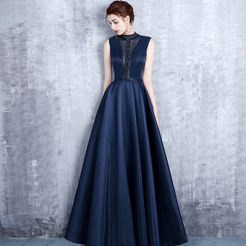 Panel Sheer Evening Gown