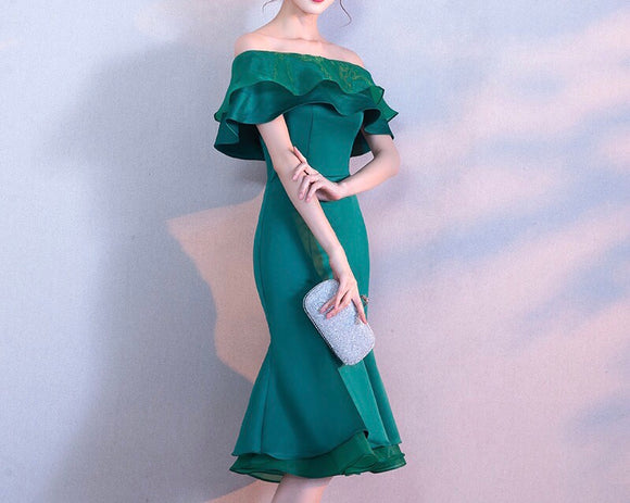 Timeless Layered Ruffle Gown (S-XL) - Gowns.sg